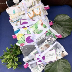 Mama Box Handmade Burp Cloth Set