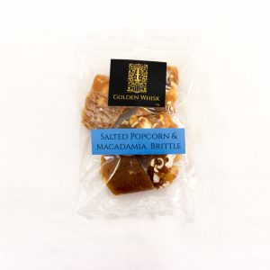 Golden Whisk Salted Popcorn and Macadamia Brittle 70g
