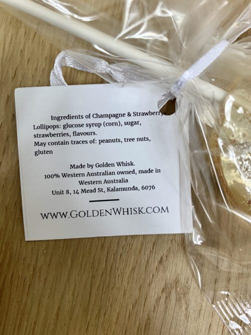 Golden Whisk Lollipop